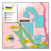 Kula Gold's new land holdings at Marvel Loch - significantly expanding the project area to the north.