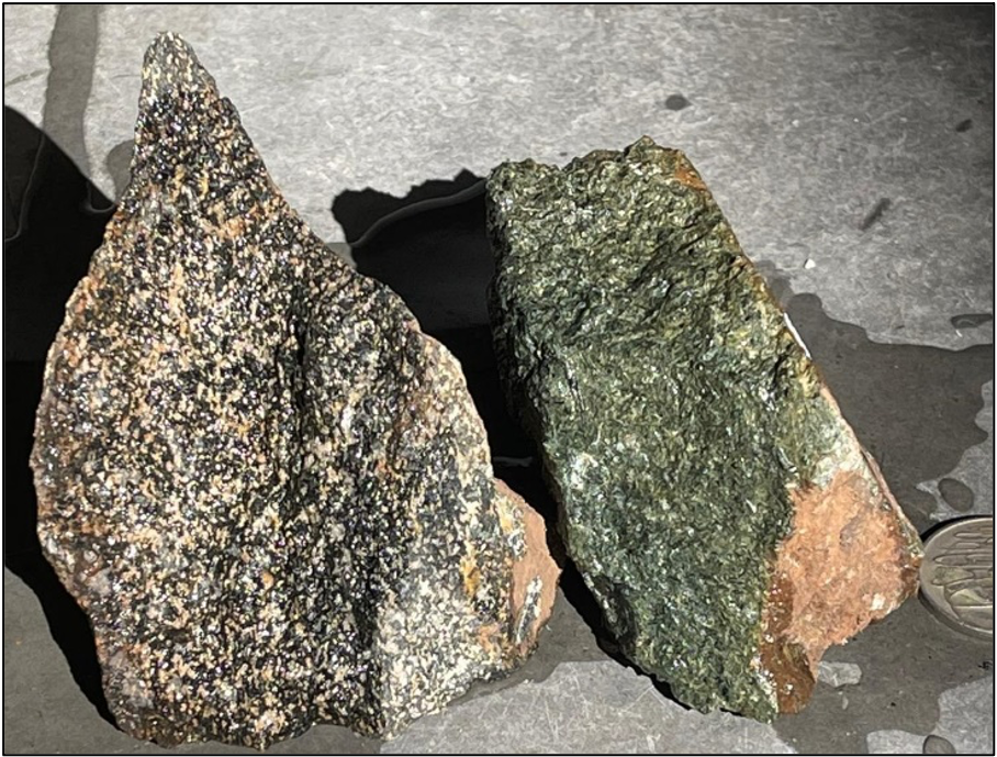Amphibolite rocks from Brunswick Project.