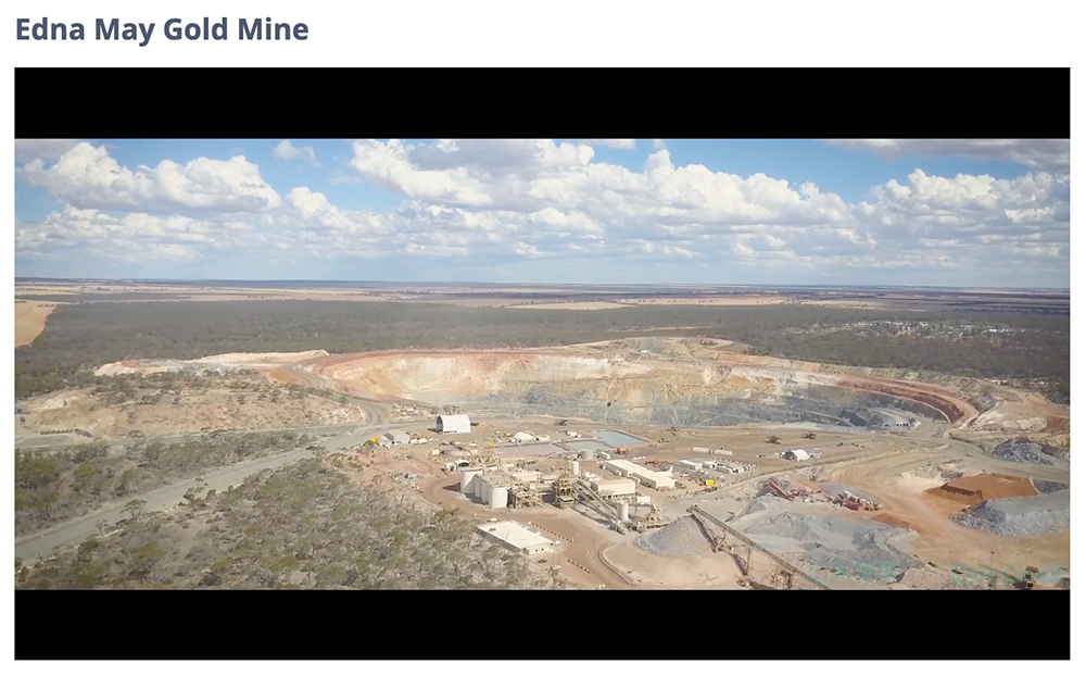 Edna May Gold Mine from the air - courtesy of www.rameliusresources.com.au