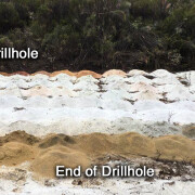 Figure 2. White Kaolin Clays at the Airfield Project from 5 to 60m BMRC001